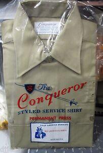 Conqueror 66LSSBP Light Blue Short Sleeve Police Uniform Shirt Size Mens Medium Shirts