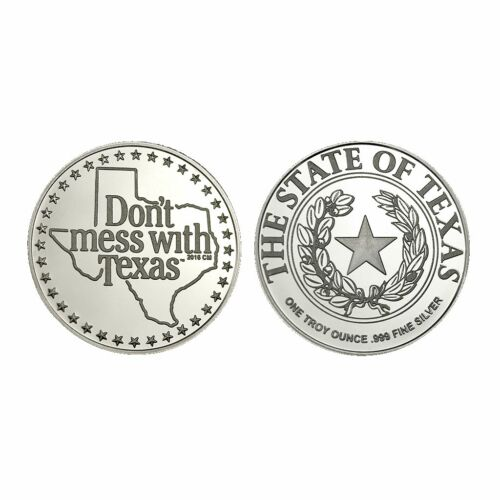Don't Mess With Texas 30th Anniversary 1 oz .999 Silver Commemorative Round Coin