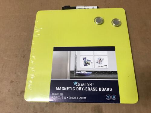 "Quartet TSQ1212 11.5/"" X 11.5/"" Square Magnetic Whiteboards CHOOSE COLOR"