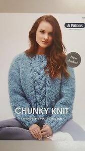 0f6a39610151e Image is loading Patons-Knitting-Pattern-0029-Chunky-Knit-Sweater