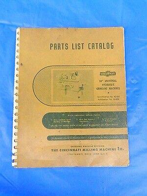 Cincinnati Cinova 80 Milling Machine Model DH  Parts List Manual Catalog  *385