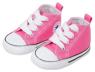 Converse Pink White Baby Infant Girl Crib Shoes New Born All Sizes | eBay