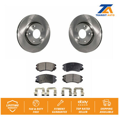 Front Brake Rotors and Ceramic Pads For TIBURON SONATA TUCSON SPORTAGE OPTIMA