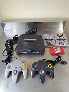 Nintendo 64 Console N64 System 5 Games NUS-001 (2) Controller Bundle