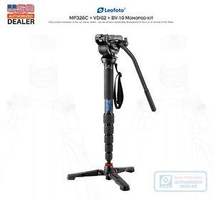 US-Dealer-Leofoto-MP-326C-Video-Kit-Monopod-amp-BV-10-Video-Head-amp-VD-02-Base