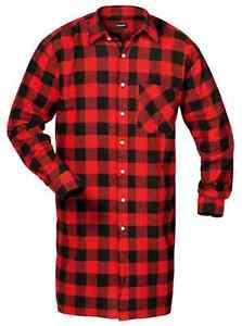 CRAFTLAND-Camisa-De-Franela-rojo-azul-negro-a-cuadros-lenador-trabajo