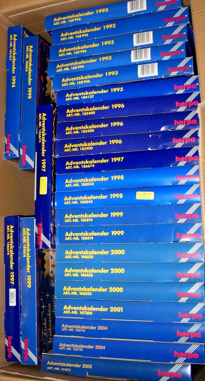 10 Pezzi Herpa Calendario Avvento da 1993! Rari Modello Speciale Colori Conf.