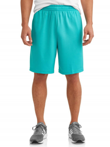 NEW Big Mens Athletic Works Aquacade Blue Performance Shorts 3XL 48-50 Waist