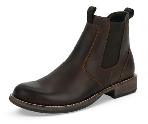 Black Eastland Mens Leather Boots Daily Double