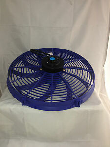 High-Performance-BLUE-16inch-Thermo-Fan-Electric-Fan-Kit-250watt-12volt-12v