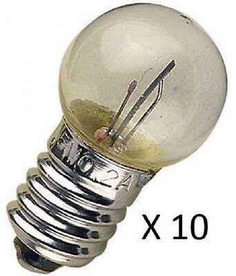 MES Flashing Bulbs Packs of 10 15mm DIA 1.5V to 6.0V Model Making Electronics