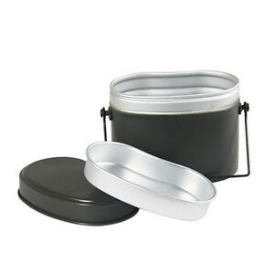 Army-Soldier-Military-Mess-Lunch-Box-Canteen-Food-Cup-Bowl-German-Camping-8148HC