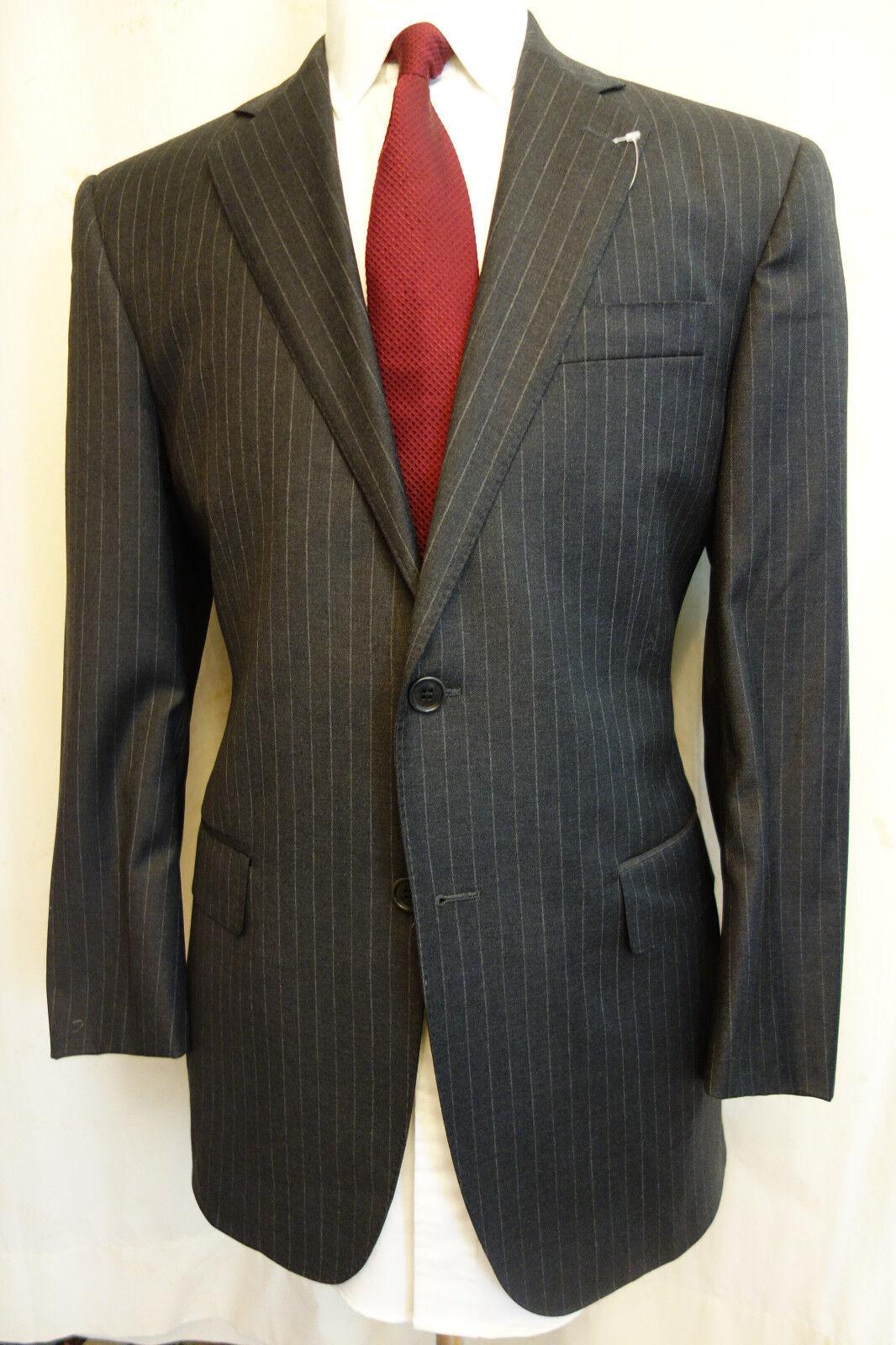 NWOT Brooks Brothers Custom TailoROT grau Pinstripe Wool Suit 40R