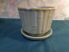 Vintage Green Bamboo Planter by McCoy