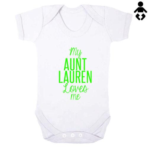 Cadeau Baby Grow Baby Vest//Body m/'aime MA TANTE.. Newborn baby shower