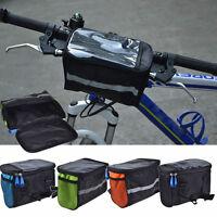 Tube Rack Bag Basket Bicycle Front Pannier Bike Cycling Handlebar New