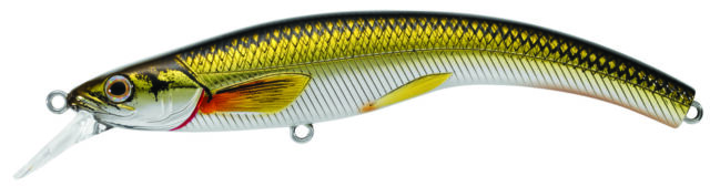 Live Target Rainbow Smelt Banana Bait Shallow Dive 91 Gold Black RSB91S-208