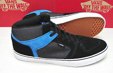 Vans Ellis Mid Suede Textile Black Blue Men's Size 11