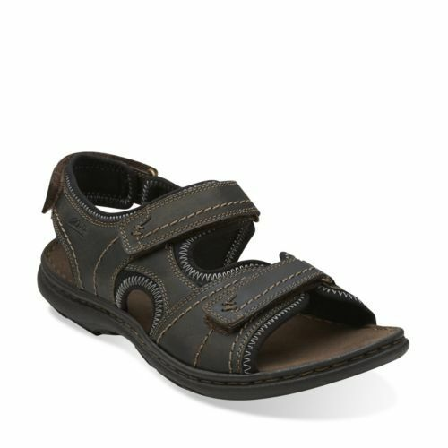 01c93215408a Clarks Mens Brigham Part Dark Brown Nubuck Sport Sandals Casual ...