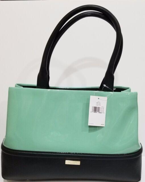 398 Kate Spade Chelsea Park Elena Patent Leather Shoulder Bag In Coastline Nwt
