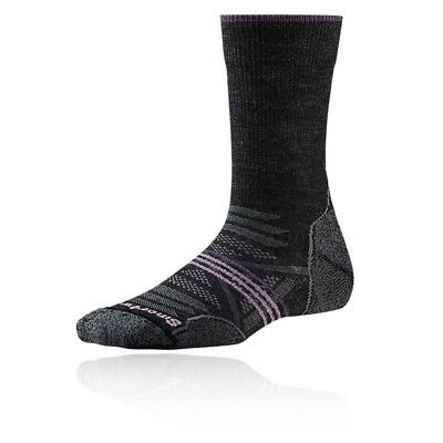 DemüTigen Smartwool Phd Light Crew Womens Grey Black Outdoors Walking Long Socks