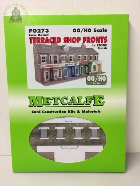 Metcalfe PO273 Stone Shop Fronts - OO Gauge