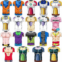 Men Casual Short Sleeve Dragon Ball Jersey Saiyan Goku Costume Boy T-shirt Tops