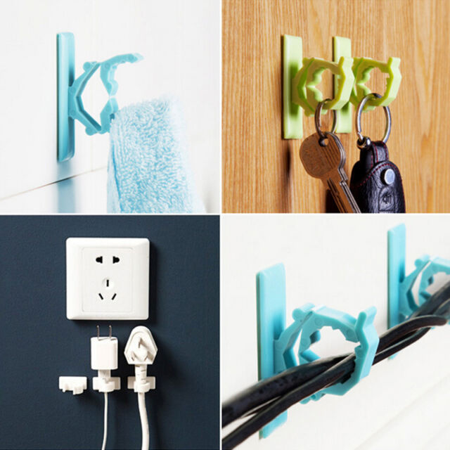 New 4Pcs Cable Clips Adhesive Cord Management Organizer Wire Holder Clamp QWC