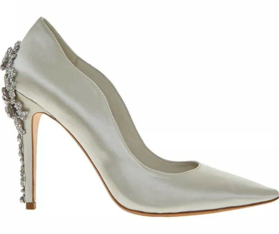 Dune Bridal Collection Be Wedd Embellished Stiletto Court Court Court schuhe UK8 -Ivory(BNIB) 618558