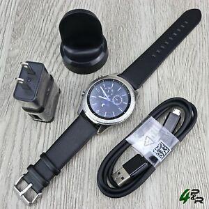 Samsung-Gear-S3-Classic-SM-R770-Wi-fi-Bluetooth-Smart-Watch-w-Leather-Band