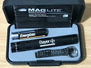 Maglite Solitaire BLACK  key ring size TORCH  NEW FREE UNITED KINGDOM SHIPPING..