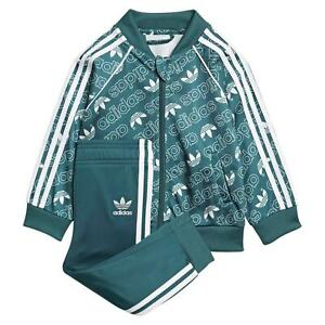 Details zu Adidas Originale Kinder Superstar Monogramm Trainingsanzug Kinder Trefoil Sets