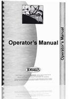 Holland B124 Backhoe Attachment Operators Manual