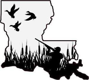 Louisiana State Duck Hunter Vinyl Vehicle Decal Sticker Ebay