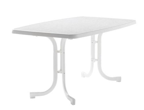 Gartentisch klappbar wetterfest  SIEGER Gartentisch Klappbar 150 X 90 Cm weiß Stahl | eBay