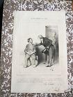 """Honoré Daumier. Lithographie originale. Série """"Les Philantropes du jour"""""""