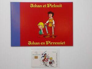 Telecarte-Johan-et-Pirlouit-Carte-de-telephone-Johan-et-Pirlouit-Belgacom