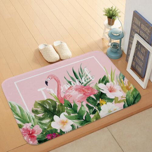 Kitchen Bath Non-slip lFront of Entrance Door Mats Dense Carpets Anti Flamingo