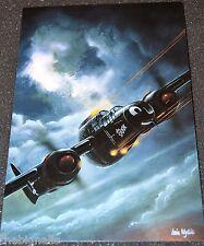 WWII Aircraft P-61 Black Widow Large Postcard