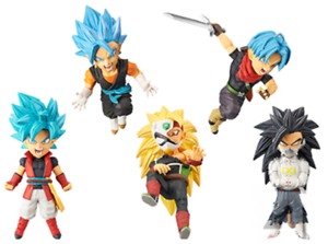 Super Dragon Ball Heroes World Collectible Figure Vol.4 set of 5 New No Box