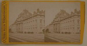 Ecole Militaire Parigi Francia Foto Stereo L44- Vintage Albumina c1870