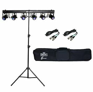 chauvet 6spot 6 spot led effect stage light bar system ch 06 stand cables ebay. Black Bedroom Furniture Sets. Home Design Ideas