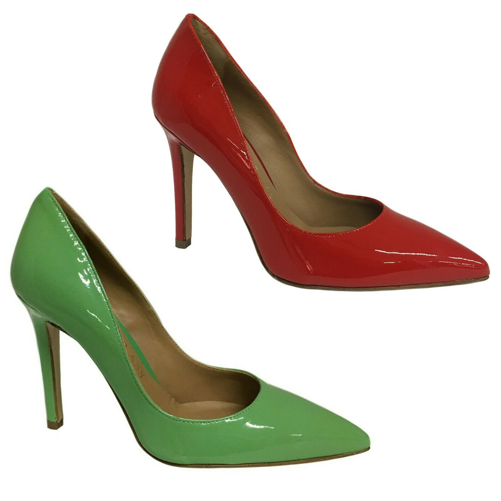 Upper class court shoes woman Paint Art r-507 100% Leather Made in
