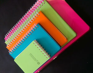 4-Pack-spiral-bound-notebooks-with-plastic-cover-in-5-sizes-Writing-memo-paper