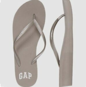 BNEW-GAP-Logo-Womens-Wedge-Sandals-Slippers-Flip-flop-Size-7-pearl