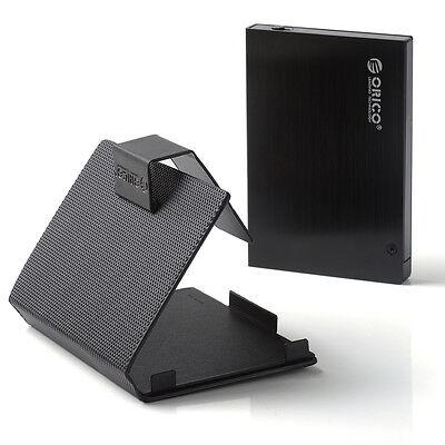 "ORICO 25AU3 Aluminum 2.5"" SATA Hard Drive USB 3.0 Enclosure Free Sleeve Black"