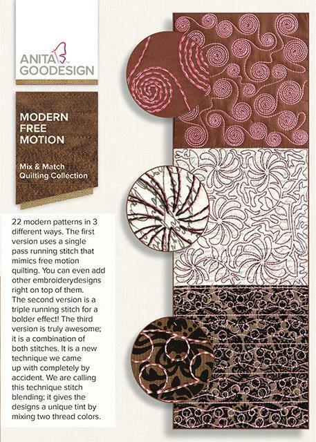 Modern Free Motion Anita Goodesign Embroidery Machine Design CD NEW