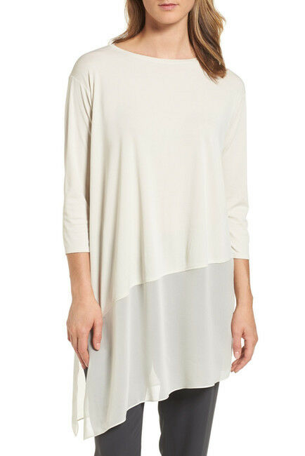 NEW Eileen Fisher Silk Layer Look Tunic- bone Größe PM   T337