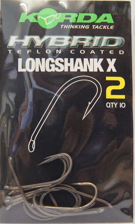 Angelhaken für Montagen Gr. 1-12 Korda Longshank X Karpfenhaken Karpfen Haken