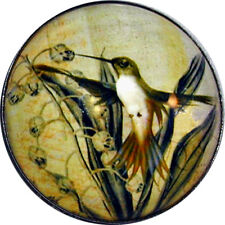 "Crystal Dome Button Hummingbird wDay Lily 1 /& 3//8/"" HBIRD 03 FREE US SHIPPING"